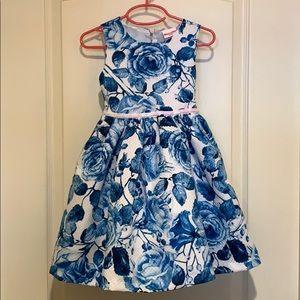 Girl's Nannette Kids floral roses Easter dress 👗